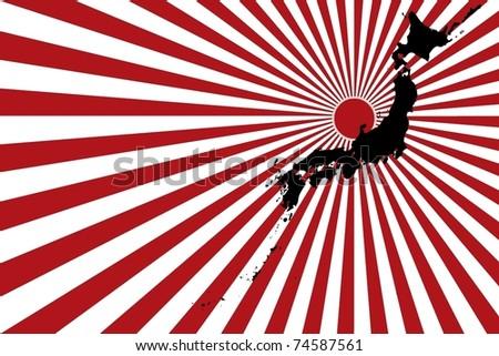 Japan earthquake and tsunami - stock vector