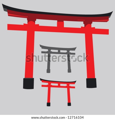 Japan Gate - stock vector
