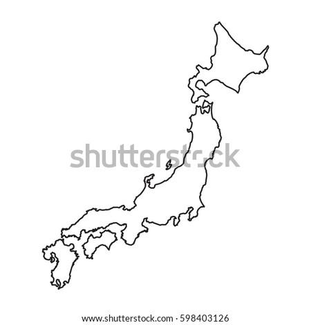 Japan Map Stock Images RoyaltyFree Images Vectors Shutterstock - Japan map images