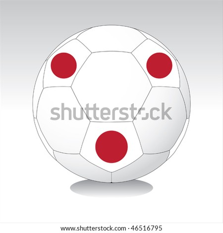 Japan soccer ball vector