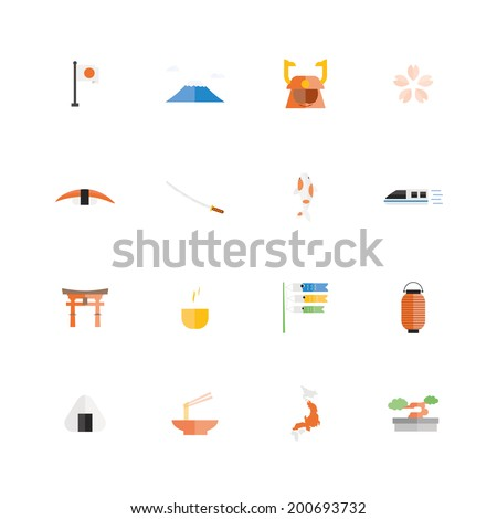 Japan travel. Famous Tours & Activities icon, Vector illustration design. - stock vector