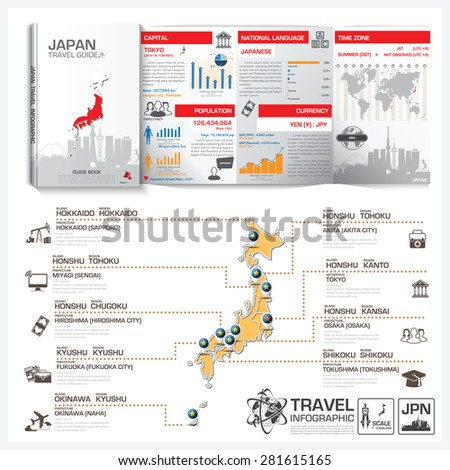 Japan Travel Guide Book Business Infographic Stock Vector 281615165 ...