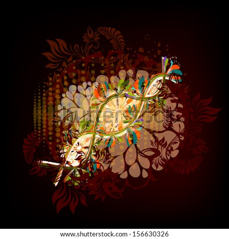 Japanese abstraction - stock vector