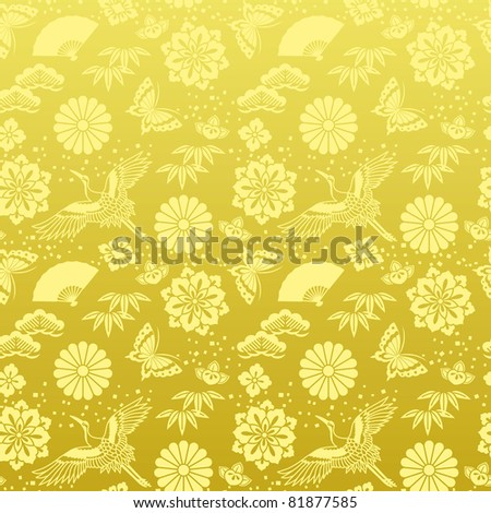 japanese background - stock vector