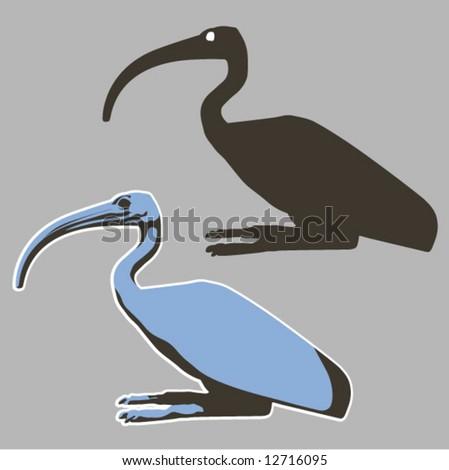 Japanese bird - stock vector