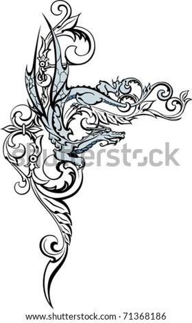 japanese dragon tattoo - stock vector