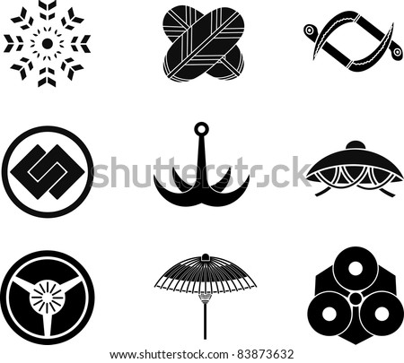Japanese Family Crests 26 - stock vector