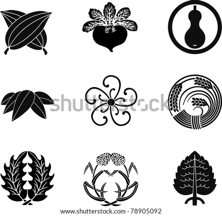 Japanese Family Crests (vector) 12