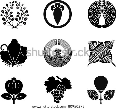 Japanese Family Crests (vector) 15