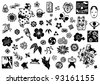 Japanese icons and marks - stock photo