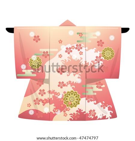 Japanese Kimono - stock vector