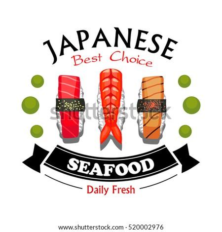 Japanese food design flat banner japanese sushi chinese food japan - Sushi Food Stock Vectors Images Amp Vector Art Shutterstock