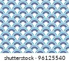 Japanese seamless vector pattern background - stock vector