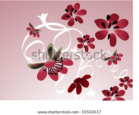 Japanese spring flowers pinks stock vector 10502617 shutterstock japanese spring flowers pinks mightylinksfo Choice Image