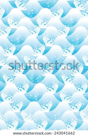 Japanese traditional pattern - seigaiha - stock vector