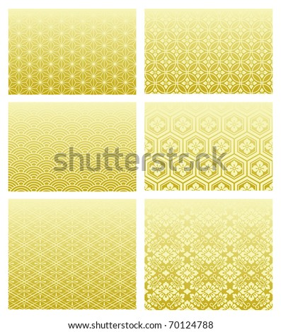 japanese traditional patterns - stock vector