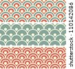 Japanese Wave Seamless Pattern - stock photo