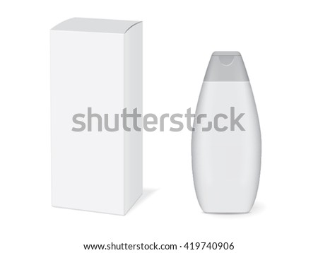 Jar of shampoo for your design. Easy to change colors - stock vector