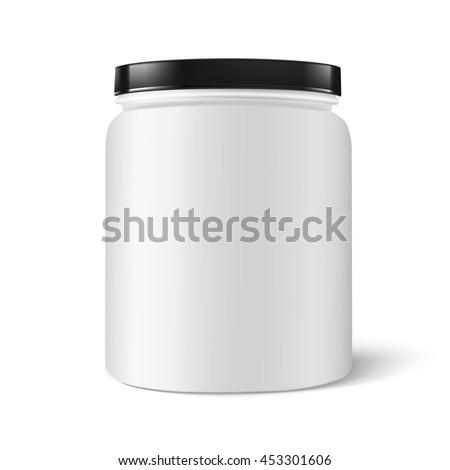 Jar plastic - stock vector