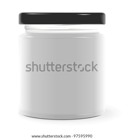 Jar template - stock vector