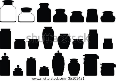 Jar vector collection - stock vector