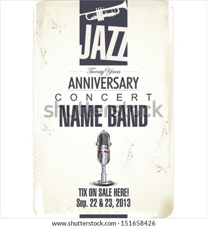 Jazz concert poster - stock vector