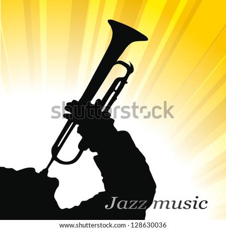 jazz music - stock vector