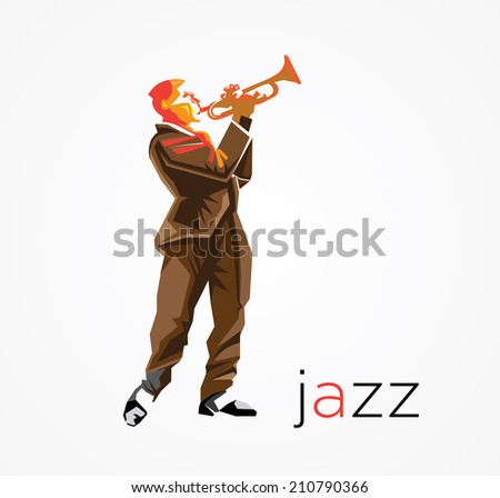 jazz musician  - stock vector