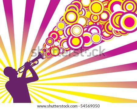 Jazz musician background vector - stock vector