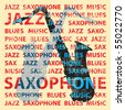 Jazz saxophone. Conceptual illustration for poster, cd cover etc. - stock vector