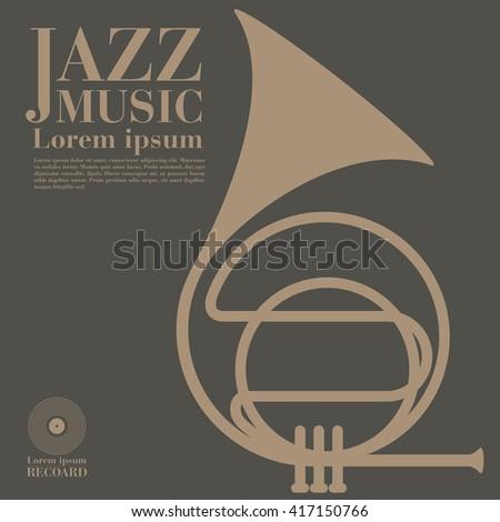 jazz, trumpet. - stock vector