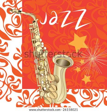 jazz vector background - stock vector