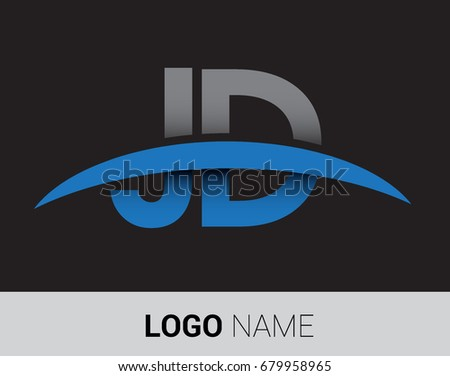 Jd Initial Logo Company Name Colored Stock Vector 679958965