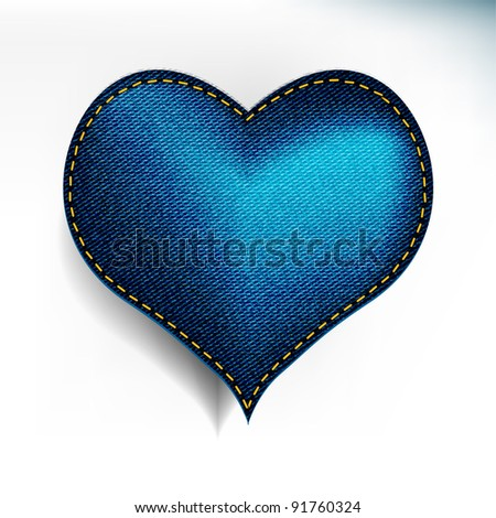 jean heart - stock vector