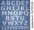 Jeans alphabet. Vector eps10 background - stock vector