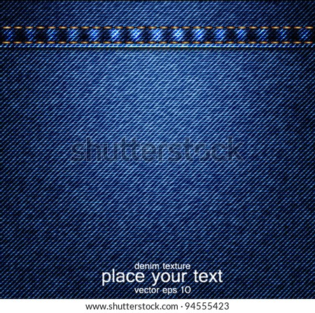 Jeans background. Vector - stock vector