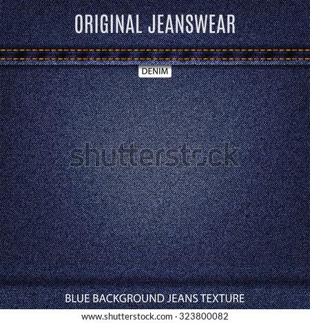 jeans blue texture denim background. stock vector illustration eps10 - stock vector