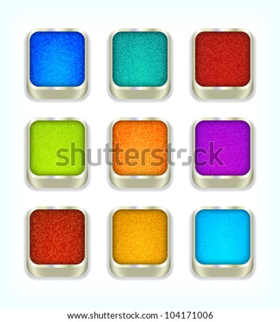 Jeans buttons, 10eps. - stock vector