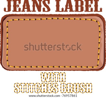 jeans label - stock vector