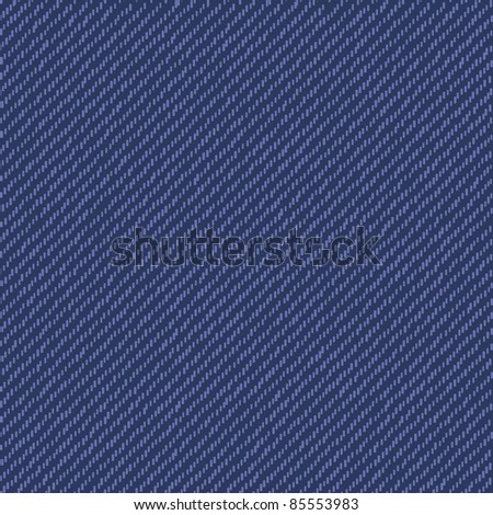 Jeans seamless texture - stock vector