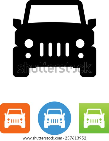 jeep icon stock vector royalty free 257613952 shutterstock