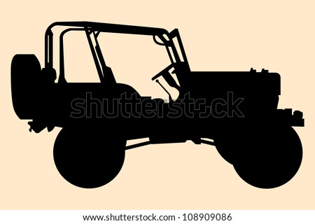 Jeep silhouette. - stock vector