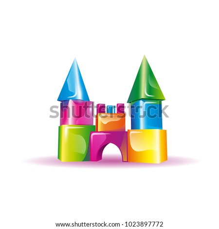 Jelly children's castle from cubes.