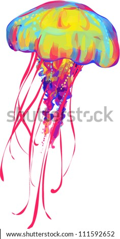 jellyfish - stock vector