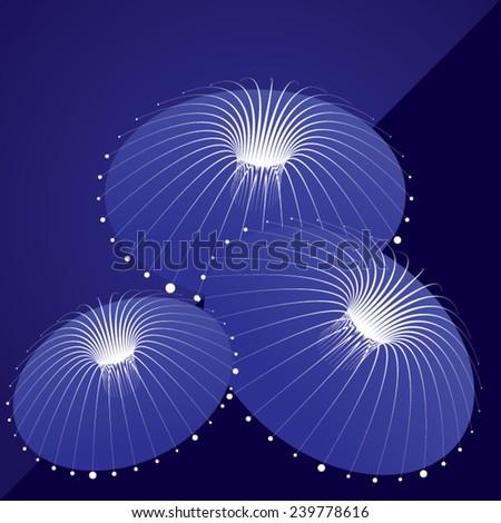 jellyfish abstract illustration - stock vector
