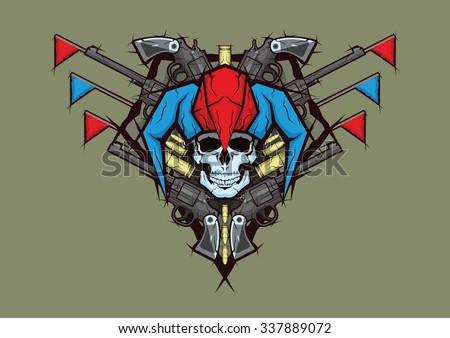 jester - stock vector