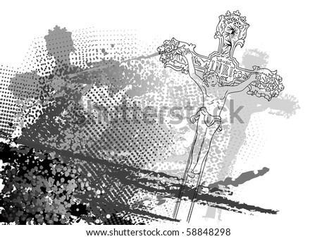jesus christ on the background - stock vector