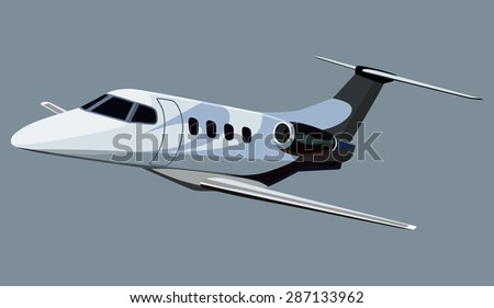 Jet airplane on a white background - stock vector