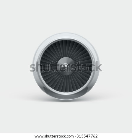 Jet engine front view  - stock vector