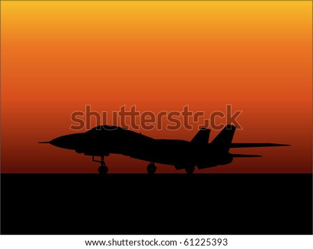 Jet fighter vector - stock vector